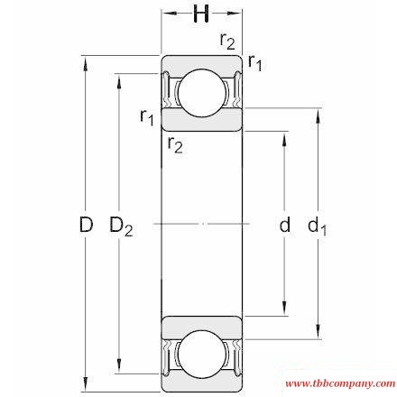 61909-2RS1 Single row deep groove ball bearing