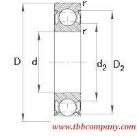 6309-C-2Z Deep groove ball bearing