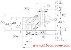XSA140944-N Crossed roller bearing