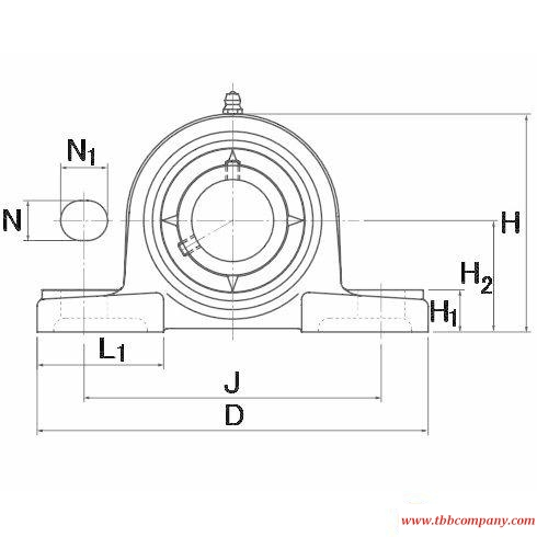 UCPX13-209D1 Inch size bearing units