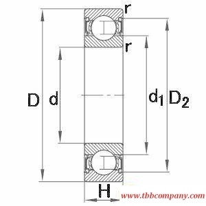 61809-2RSR-Y Deep groove ball bearing