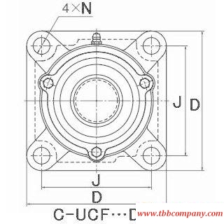 C-UCFX09-111D1 Inch size bearing units
