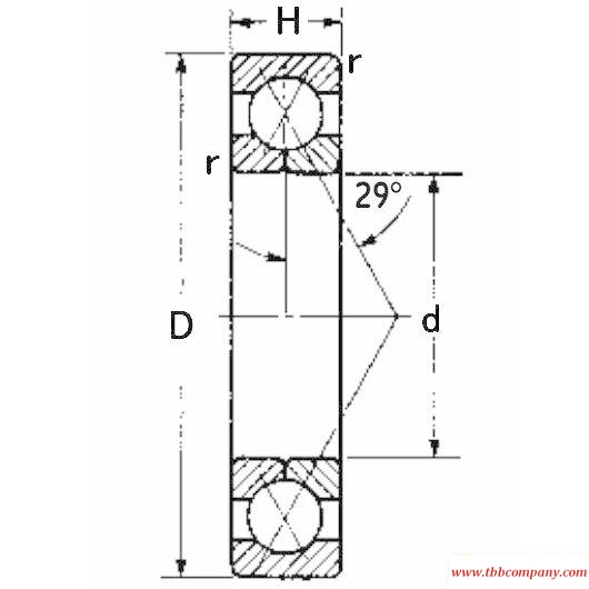 9110UK Angular contact ball bearing
