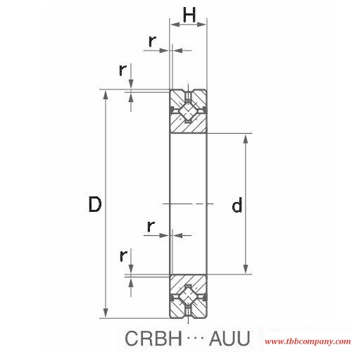 CRBH3510A Crossed roller bearing