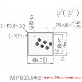 MPBZU10-25 Oil free bushing