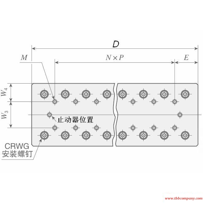 CRWUG 40-110 Crossed Roller Way Unit Linear guide