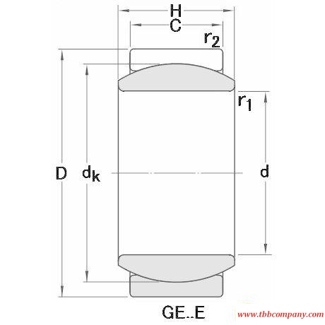 GEH 110 ES-2RS Plain bearing