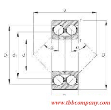 3310-DA-MA Angular contact ball bearing