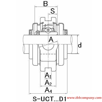SM-UCTX10-115D1 Inch size bearing units