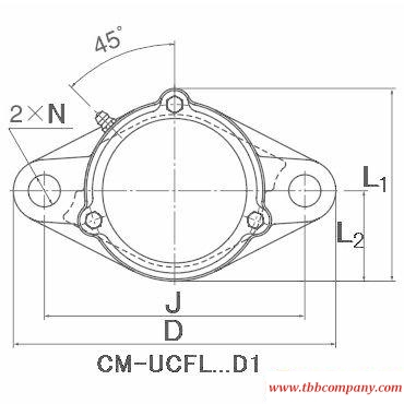 CM-UCFL210-114D1 Inch size pillow block bearing