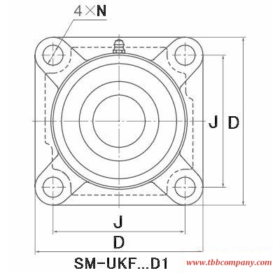 SM-UKF210D1;HA2310 Inch size bearing units