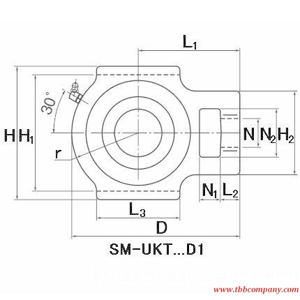 SM-UKT210AD1;HA2310 Inch size bearing units