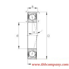 B7210-C-2RSD-T-P4S Spindle Bearing