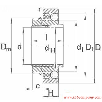 1216-K-TVH-C3+H216 Self-aligning ball bearing