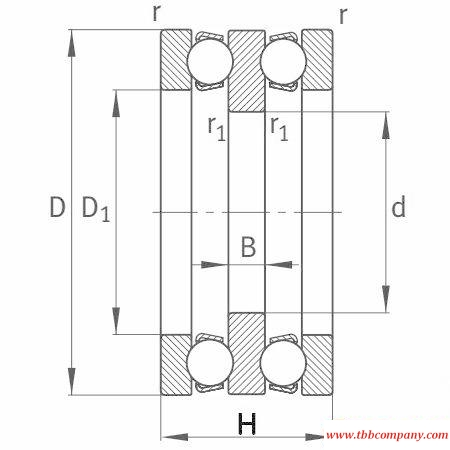 52211 Deep groove ball thrust bearing