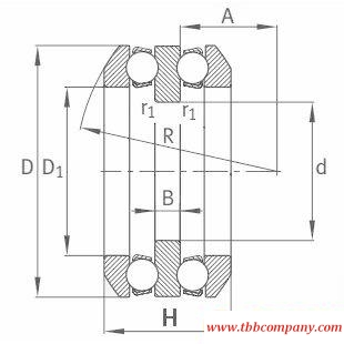54311 Deep groove ball thrust bearing