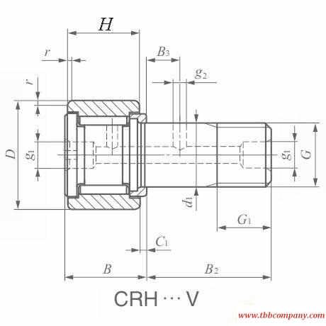 CRH11V Cam follower bearing
