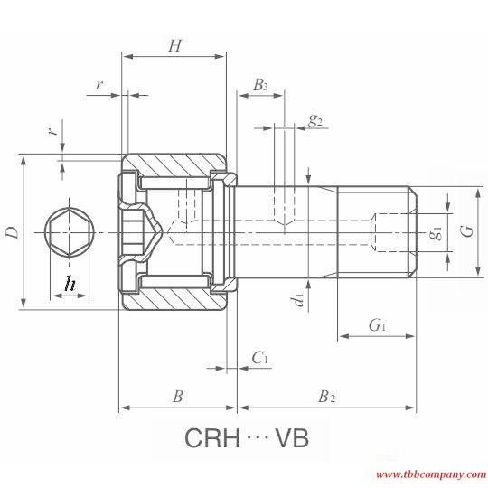 CRH11VB Cam follower bearing