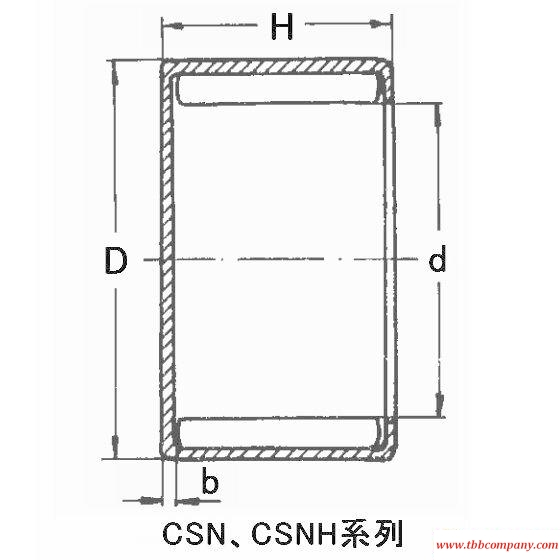 CSN1112 Sealed type drawn cup needle roller bearing (inch size)