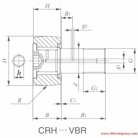 CRH11VBR Cam follower bearing