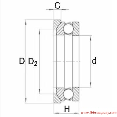 4114-AW Deep groove ball thrust bearing