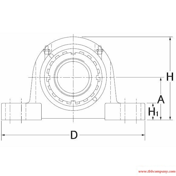 TAPH26K115S Mounted spherical roller bearing