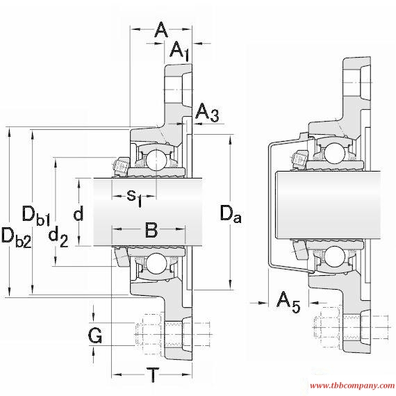 FYTB 1.15/16 LDW Bearing units with flange