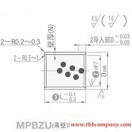 MPBZU8-16 Oil free bushing