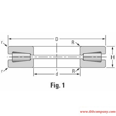 T1750 Axial thrust bearing