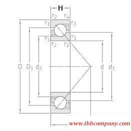 7317BECBP Single row angular contact ball bearing