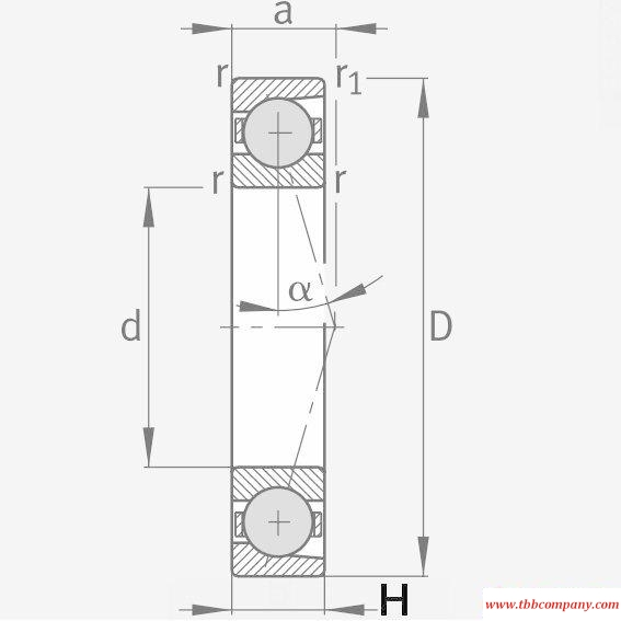 HCB7228-C-T-P4S Spindle Bearing