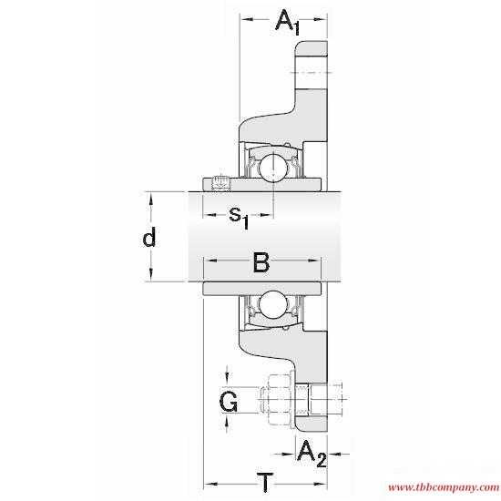FYT 1. TF/VA228 Elliptical flange bearing units