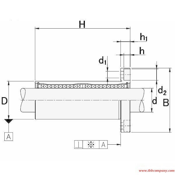 LMEF25L Round flange mount linear motion bearing
