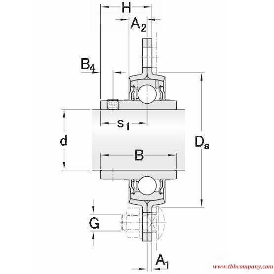 PFD 25 TF Triangle flange bearing units