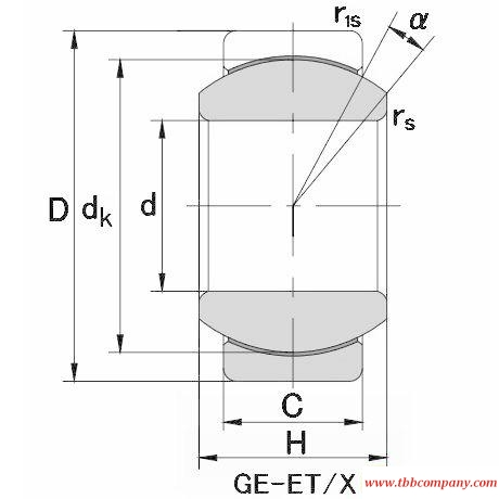 GE280XT/X Plain bearing