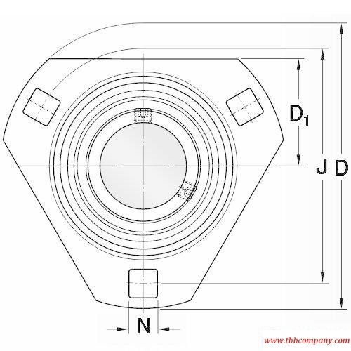 PFD 30 TR Triangle flange bearing units